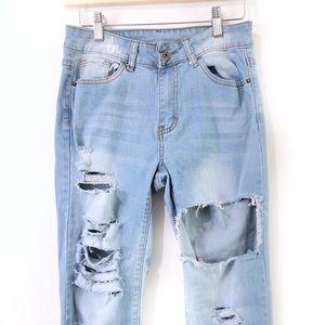 Denim - New Distressed boyfriend jeans, womens jeans